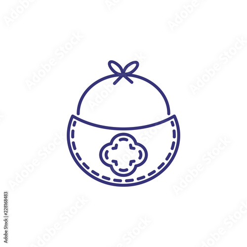 e9d3ed719e6 Burb cloth line icon. Clothes concept. Childhood