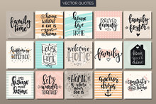 Hand Drawn Typography Posters Set. Conceptual Handwritten Phrases T Shirt Hand Lettered Calligraphic Design. Inspirational Vector