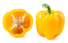 Yellow Pepper Isolated On Whit...