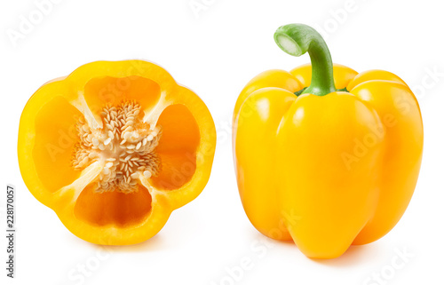 Tela Yellow pepper isolated on white background