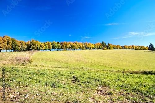 Autumn landscape on Liptov. Attractive destination for relaxation Haj-Nicovo near Liptovsky Mikulas.