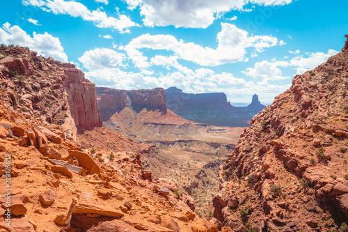 In de dag Centraal-Amerika Landen Island in the Sky in Canyonlands National Park, Utah, USA