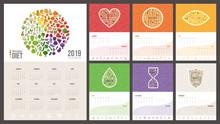 Rainbow Diet Calendar 2019