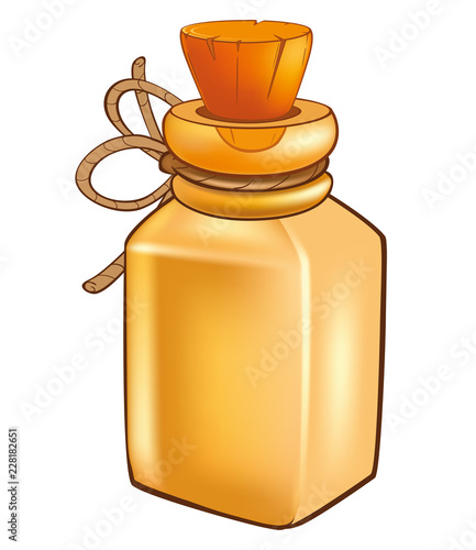 Illustration of a Magic Flask
