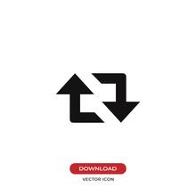 Retweet Arrows Vector Icon