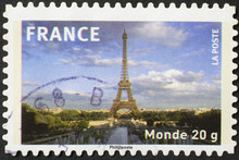 Skyline Of Paris On French Pos...