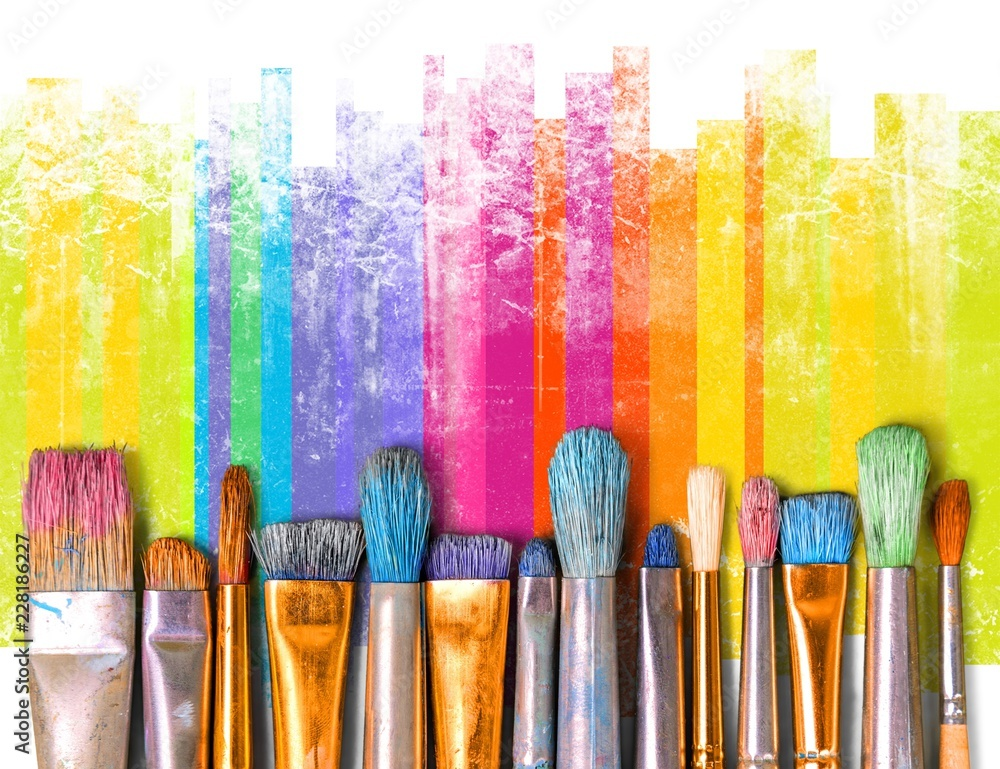 Fototapety, obrazy: Paintbrush art paint creativity craft backgrounds exhibition