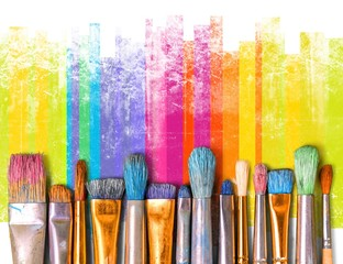 Paintbrush art paint creativity craft backgrounds exhibition