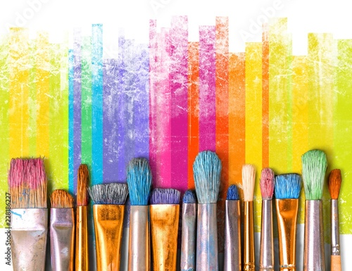 Photo  Paintbrush art paint creativity craft backgrounds exhibition