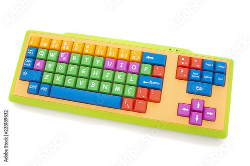 Photo learning colorful keyboard