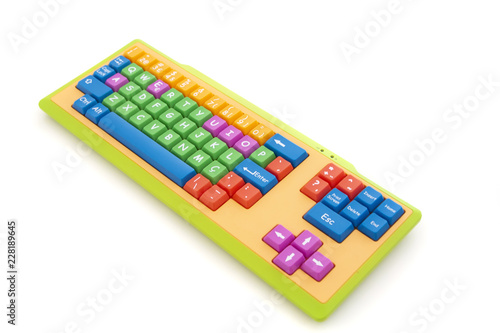 learning colorful keyboard Wallpaper Mural