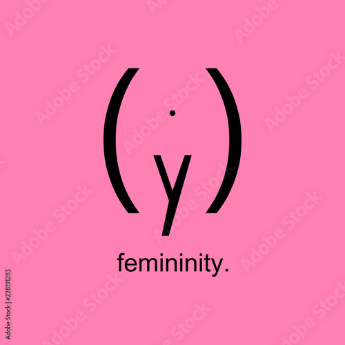 Fotografía  Femininity Woman Typography Vector Background
