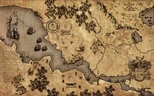 Old Vintage Fantasy Map