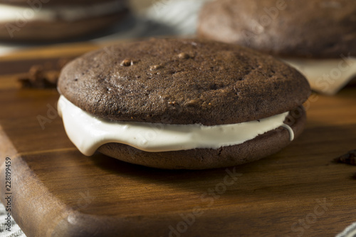 Homemade Chocolate Whoopie PIe Canvas Print