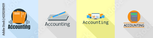 International accounting logo set Canvas Print