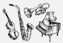 A Set Of Musical Instruments: ...