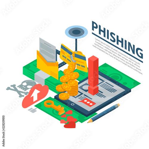 Fotografía  Phishing attack concept background