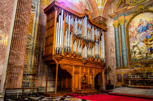 Church Organ In Santa Maria Della Vittoria, Rome, Italy