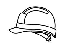 Cute Builder Helmet Isolated Icon