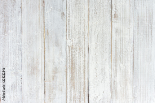 Vintage White Wood Texture Background Wooden Table Top View