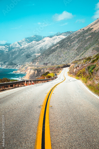 In de dag Centraal-Amerika Landen Highway 1 at California Central Coast, USA