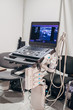 Modern ultrasound machine in clinic laboratory of sonography diagnostics