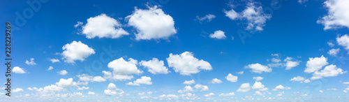 Aluminium Prints Heaven Blue sky natural background.