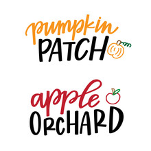 Pumpkin Patch And Apple Orchard