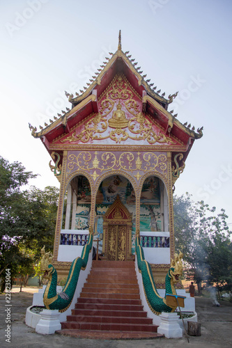 Fotobehang Bedehuis Temple in Laos