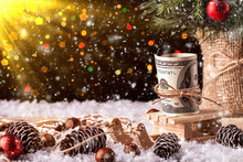 Money Christmas Gift With Wood...