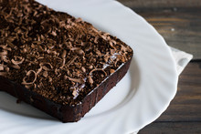 Chocolate Pound Cake With Chocolate Icing And Chocolate Chips