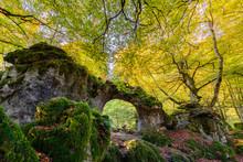 Natural Arch Of Zalamportillo, Entzia Mountain Range, Alava, Spain