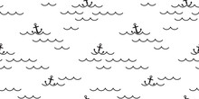 Anchor Seamless Pattern Vector...