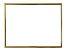 Antique Golden Frame Isolated ...