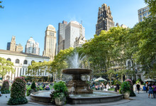 The Fountain In Bryant Park, N...