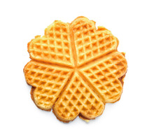Delicious Waffles On White Background