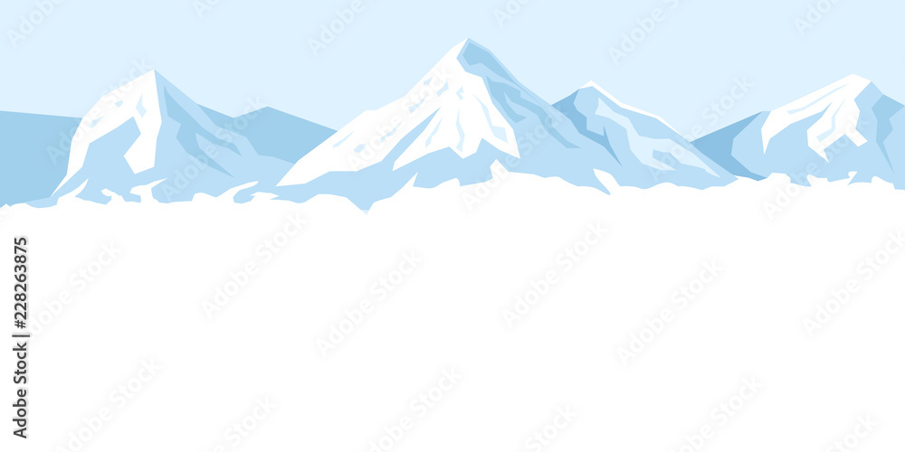 Fototapety, obrazy: light background with mountains