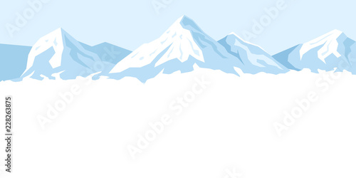 Fototapeta Jasne tło z górami rysunkowa/graficzna XXL