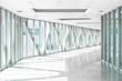 Curve office walkway in modern style
