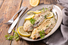 Sole Fish Cooked With Herb And...