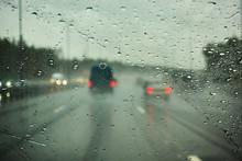 Blurred View Of Road Traffic O...