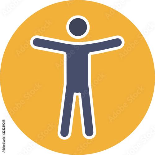 Web accessibility glyph color icon Canvas Print
