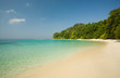Beach no 7, Havelock, Andaman Islands India, tropical ancient forest, turqouise waters, white sandy beach and clear blue sky.