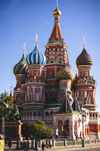 Keuken foto achterwand Moskou October 11, 2018. Moscow Red Square, view of St. Basil's Cathedral