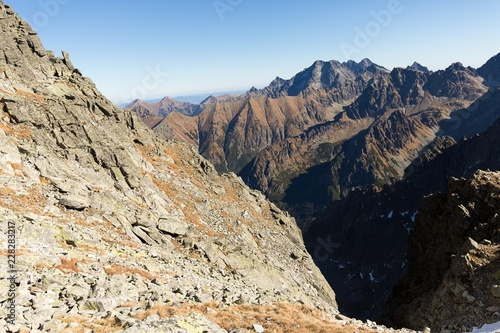 High Tatras mountains on a summer day.