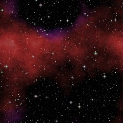 Night seamless sky with many stars, sky texture with black night, milkyway, red clouds