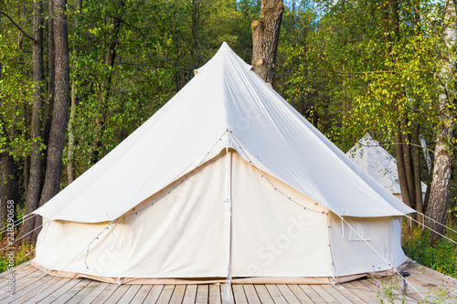 Obraz na plátně Canvas glamping tent at forest