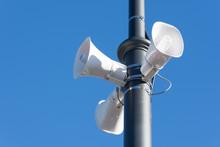 Loudspeaker On A Pole In The C...