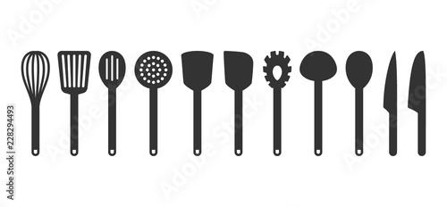 Fotografia, Obraz Cooking utensil set of tools