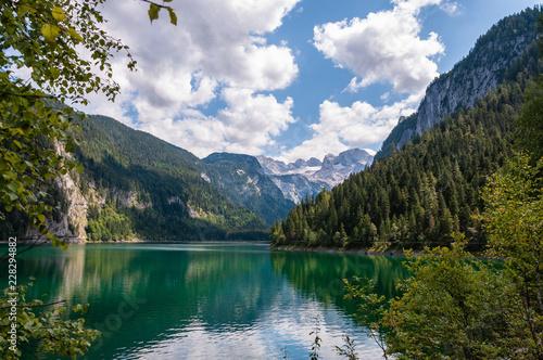 Fotografija  Wald, Gosausee und Dachsteingletscher